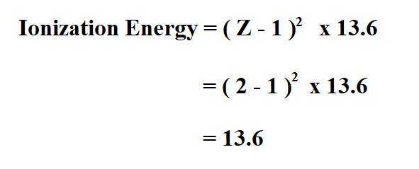 Calculate Ionization Energy.