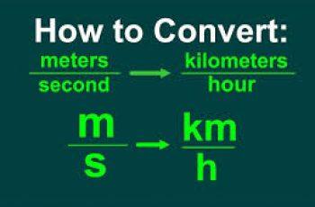 Convert M/s to Km/h.