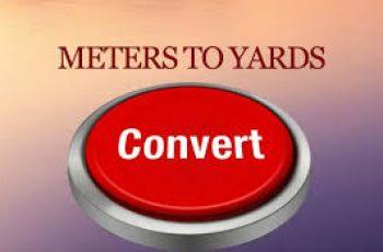 Convert Yards to Meters.