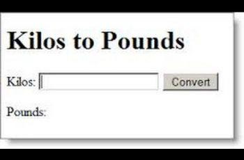 Convert Kilograms to Pounds.