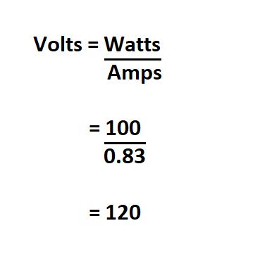 Convert Watts to Volts.